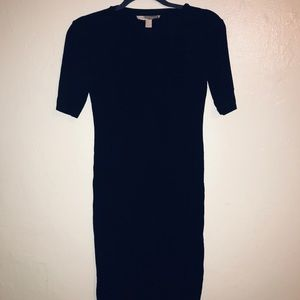 Long black fitted dress